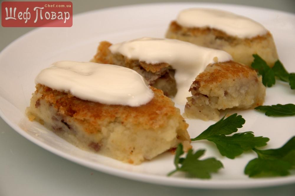 Зразы из картофеля с мясом