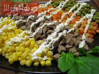 рецепты салатов с печенью рецепты с фото простые и вкусные