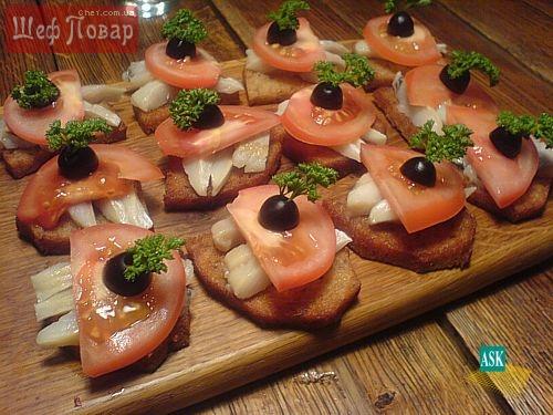 рецепты закусок и бутербродов с фото