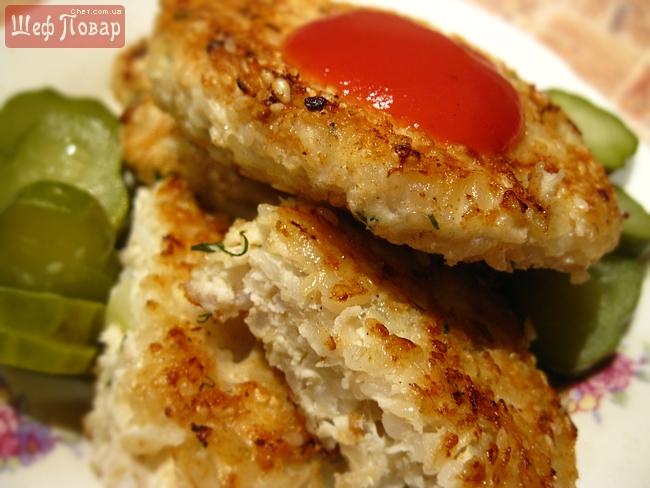 Куриные котлетки с рисом рецепт