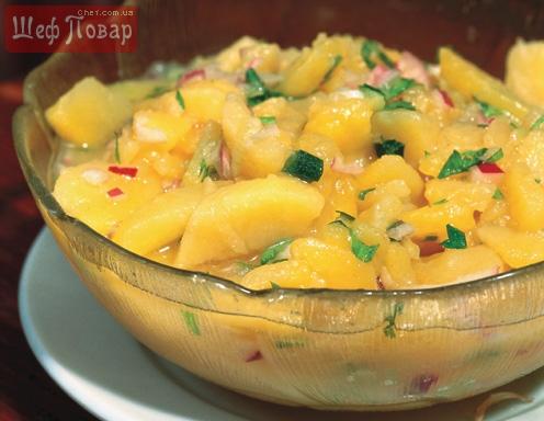 Австрийский картофельный салат рецепт с