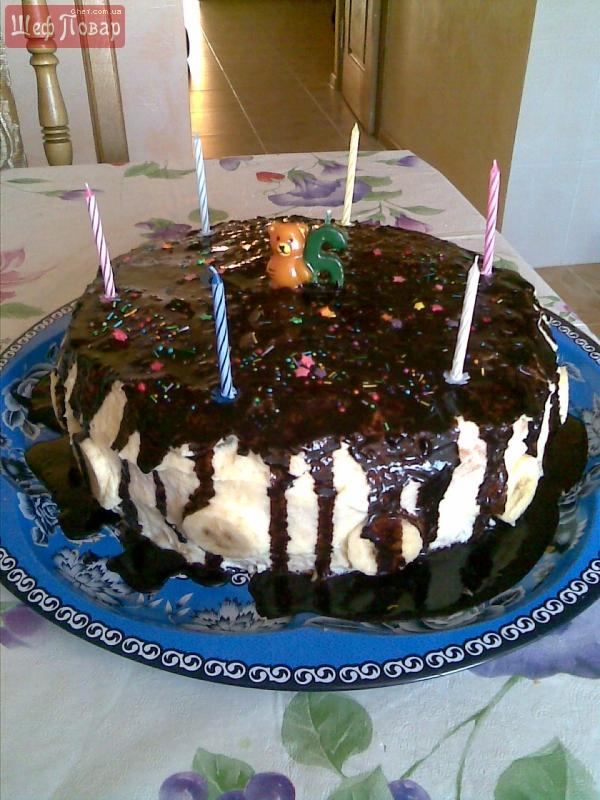 Тортик фруктовый ко дню рождения
