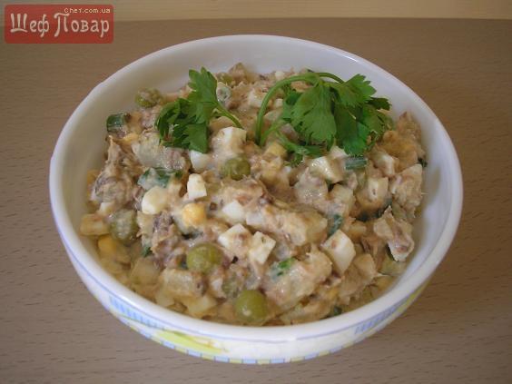 рецепты быстрых салатов из консервов