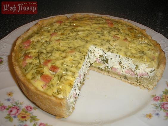 Пирог с соленым творогом рецепт с фото
