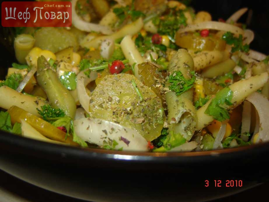 Салат с солеными огурцами и мясом рецепты 67