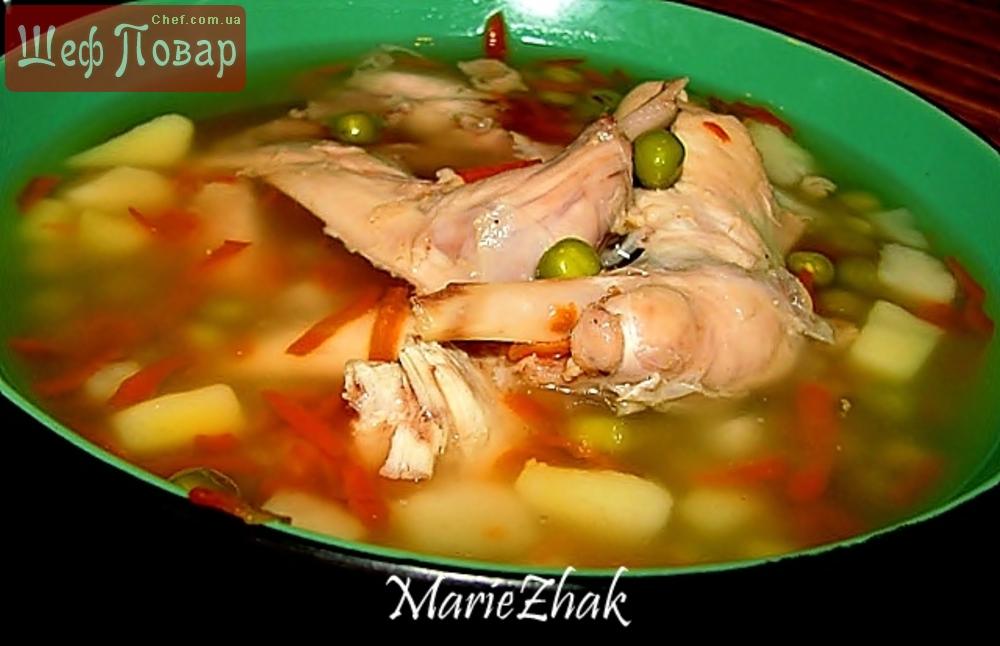 Суп с кроликом рецепт пошагово с