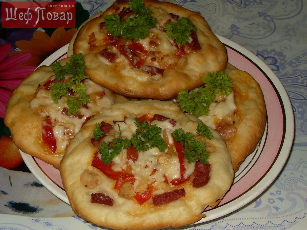 Пицца «Скорая» – Пошаговый рецепт с фото. Выпечка. Вкусные ...