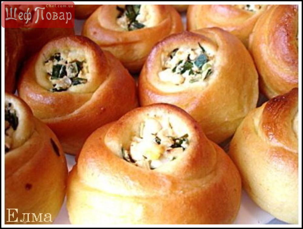 Пирожки из дрожжевого теста с луком и яйцом рецепты с фото