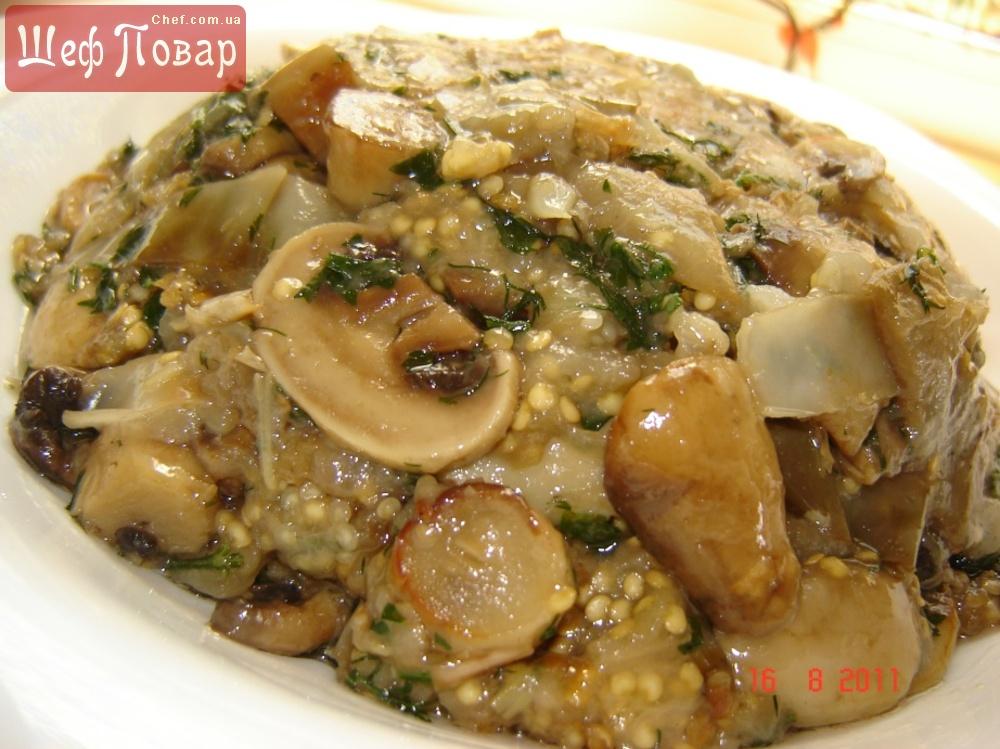 Постные блюда с грибами и капустой