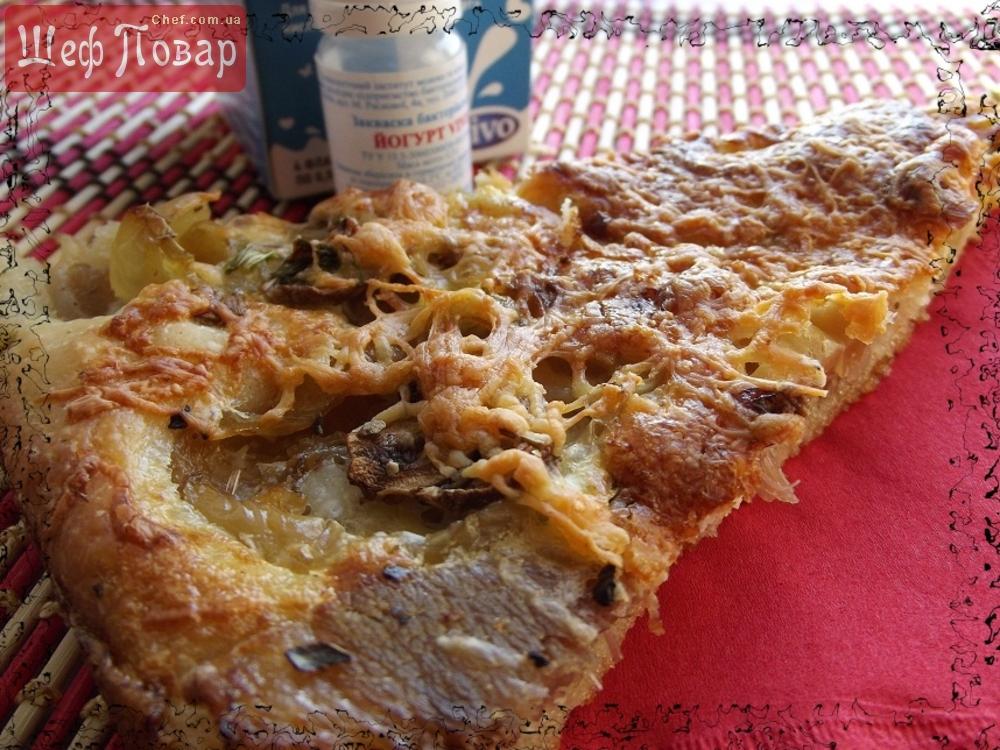 Пицца с сырным соусом