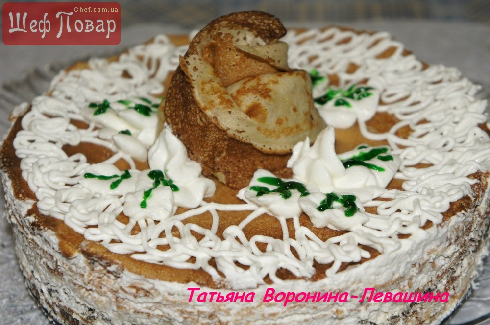 Вкусный блинный торт рецепт с фото