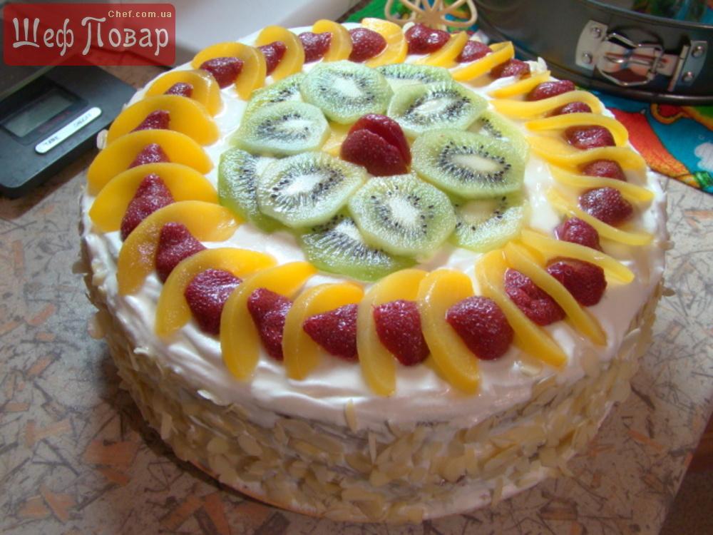 Легкие фруктовые торты рецепты