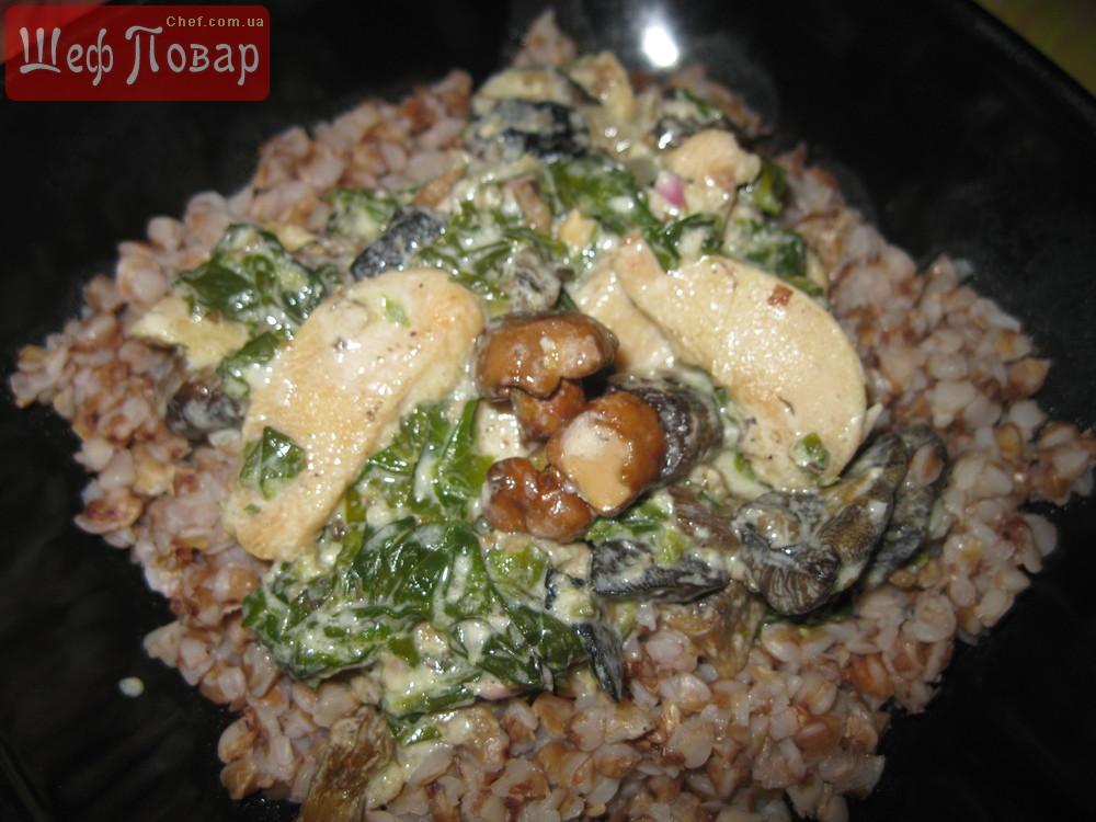 гречка с грибами и мясом рецепт с фото