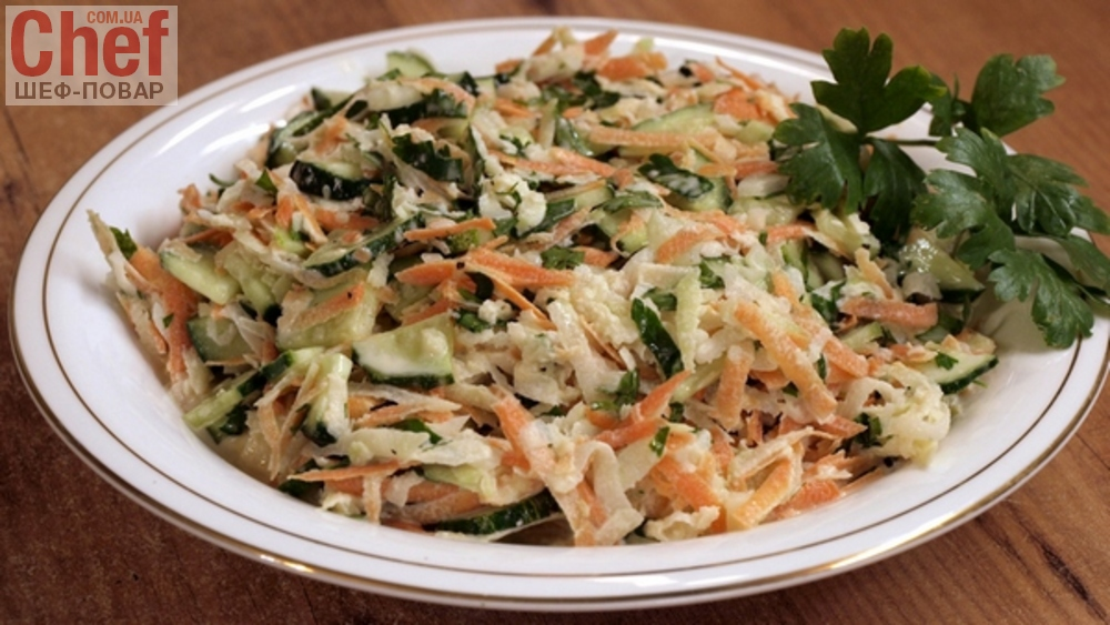 Смотреть Салат из кольраби с яблоком и морковью видео
