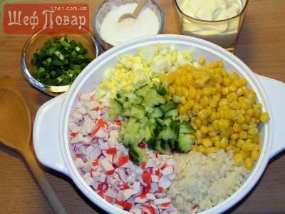 рецепт кукурузного салата с крабовыми