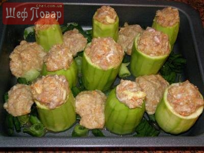 Фаршированные кабачки мясные блюда