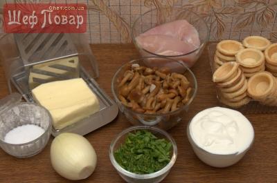 тарталетки с начинкой курица с грибами рецепты с фото #3