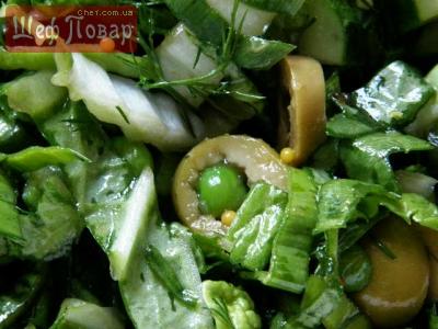 зеленые салаты рецепты с фото простые и вкусные