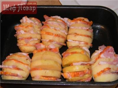 Картофельные веера в духовке рецепт с фото