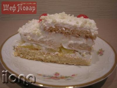 Торт из савоярди зимняя вишня