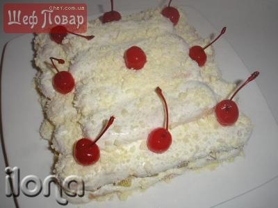 "Торт из савоярди ""Зимняя вишня"""