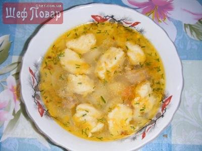 галушки суп видео рецепт с фото