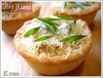 Пироги порционные с творожно-картофельной начинкой с зеленью