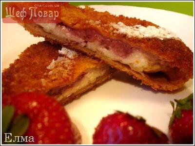 пирожки с творогом и ягодами