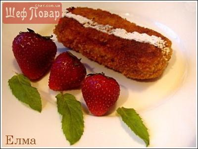 Пирожки с творогом и клубникой (из вафельных листов)