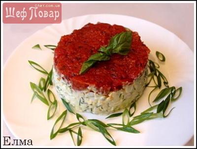 Салат из помидоров и