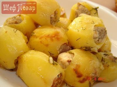 Картошка фаршированная фаршем рецепт рецепт пошаговый