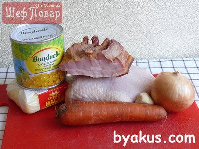 Блюда с курицы и бекона