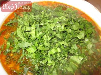 Зелёный борщ со щавелем и томатом