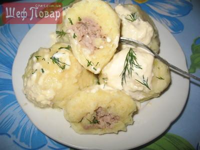 Клецки с салом рецепт