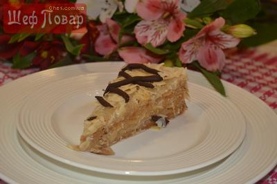 Постный торт с миндально-кокосовым вкусом