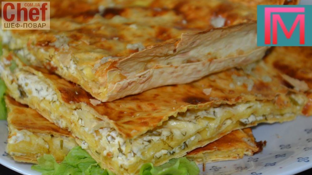 Хачапури с сыром и чесноком рецепт с фото
