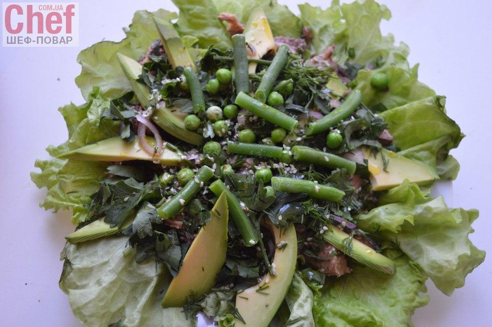 Салат из авокадо с тунцом фото