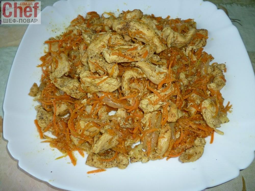 салаты с морковью по-корейски и курицей рецепты с фото простые и вкусные