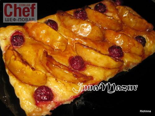слойка з яблуками рецепт з фото