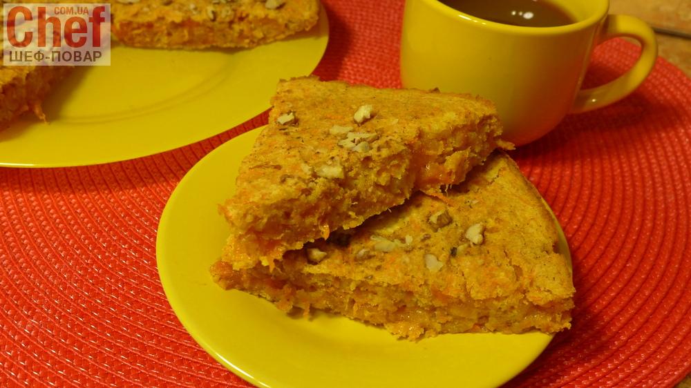 Морковный пирог с яблоками рецепт