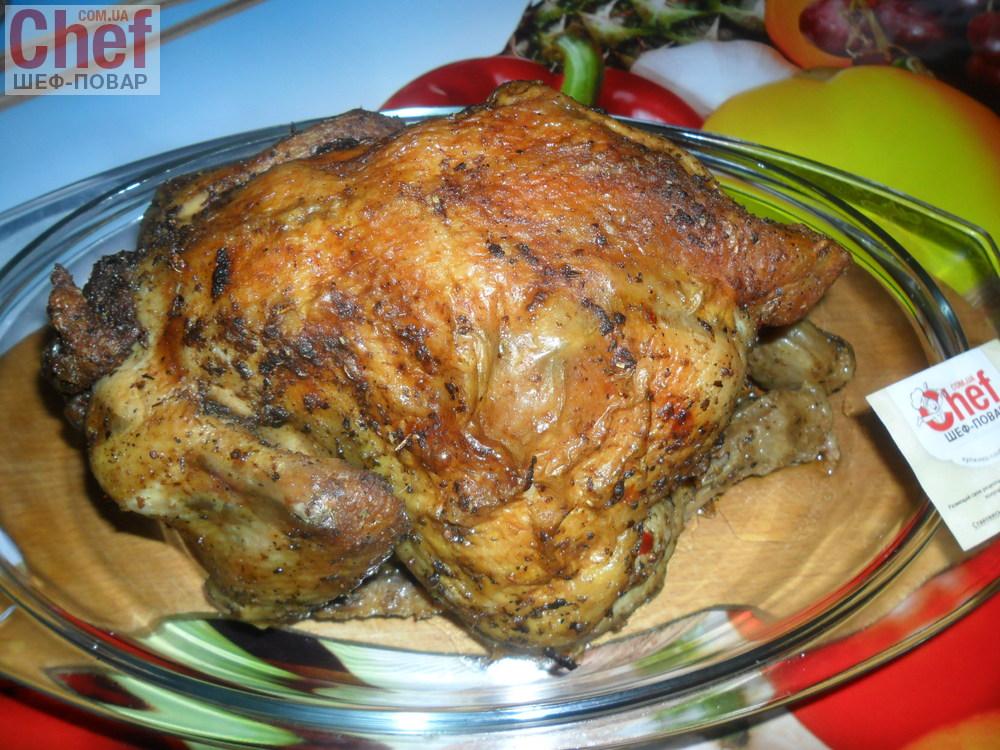 Курица, фаршированная рисом с овощами
