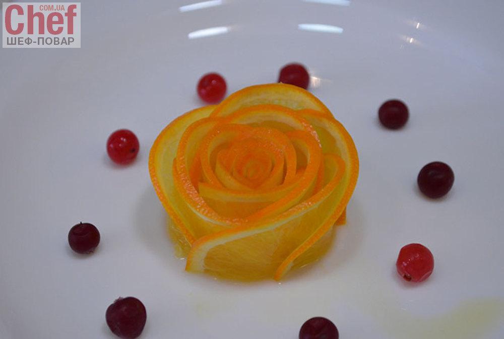 Розы из апельсина на торт с пошаговым
