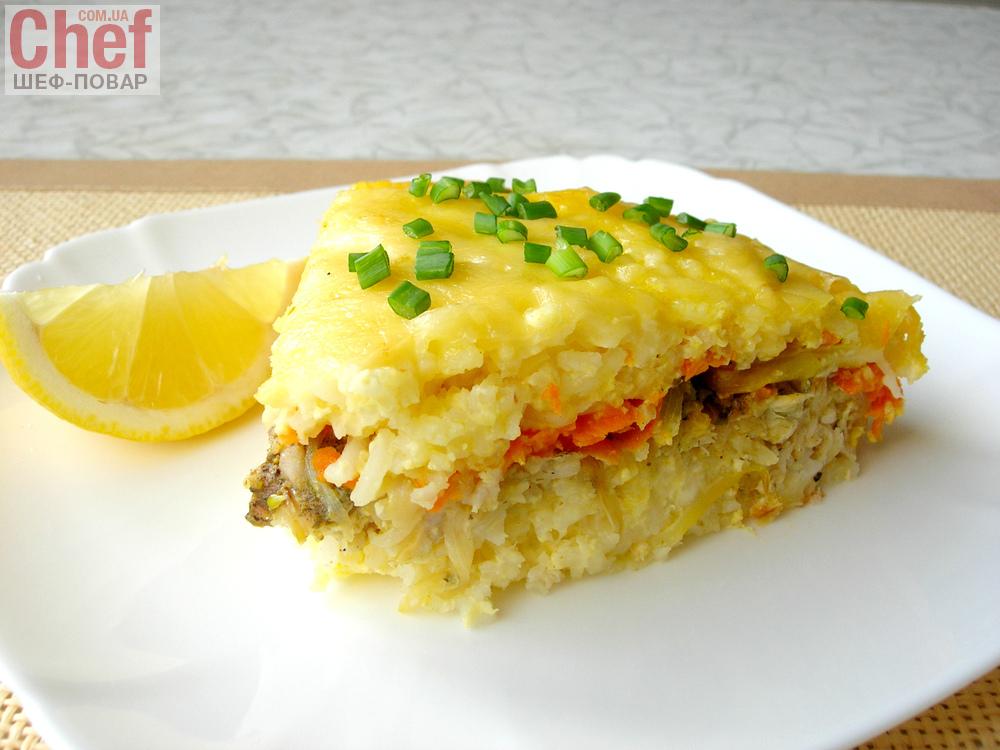 Рыбная запеканка из хека рецепт