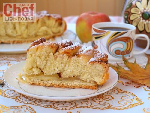 пирог хризантема с яблоком рецепт с фото